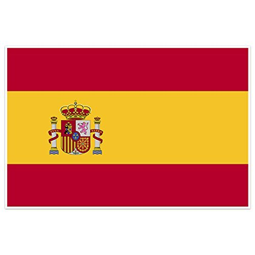 Spain Country Flag Wall Art - To Usps Spain Shipping