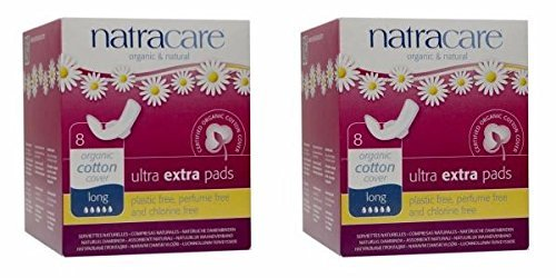 ((2 PACK) - Natracare Ultra Extra Pads With Wings - Long | 8s | 2 PACK - SUPER SAVER - SAVE MONEY)