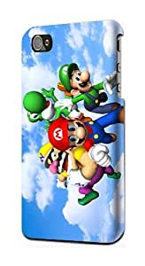 New Super Mario Bros Game Snap on Plastic Case Cover Compatible with Case For HTC One M8 Cover s