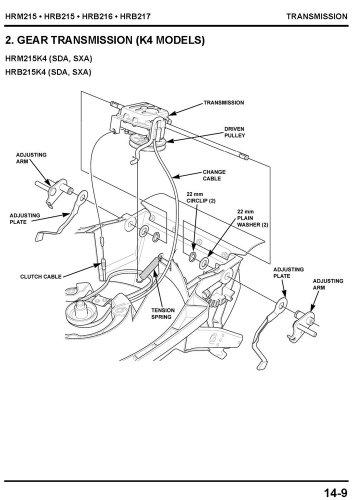 amazon com honda hrb215 hrb216 hrb217 hrm215 lawn mower service rh amazon com Scotts Lawns Mowers Parts List honda hrm215 parts list