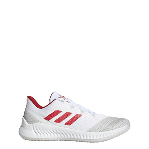 Image of the adidas Men's 2018 Harden B/E 2 Basketball Shoes, White/Power Red/White (8.5, White/Power Red/White)