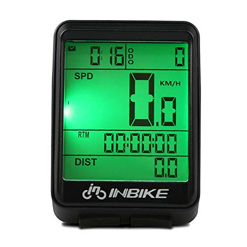 Bike Odometer,Wireless Bike Computer Waterproof Speedometer Multi-Functions with Backlight Perfect Bicycle Accessories for Mountain Road and More