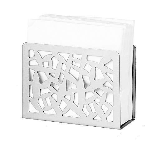 NFASHIONSO Modern Style Stainless Steel Tabletop Napkin Holder/Freestanding Tissue Dispenser