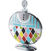 "Alessi""Fatman"" Folding Cake Stand in 18/10 Stainless Steel Mirror Polished With Decoration, Multicolor"