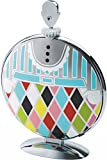 Alessi ''Fatman'' Folding Cake Stand in 18/10 Stainless Steel Mirror Polished With Decoration, Multicolor