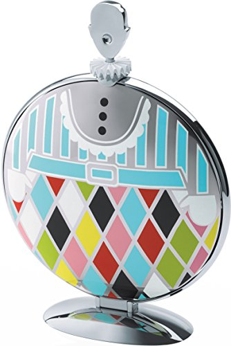 Alessi ''Fatman'' Folding Cake Stand in 18/10 Stainless Steel Mirror Polished With Decoration, Multicolor by Alessi