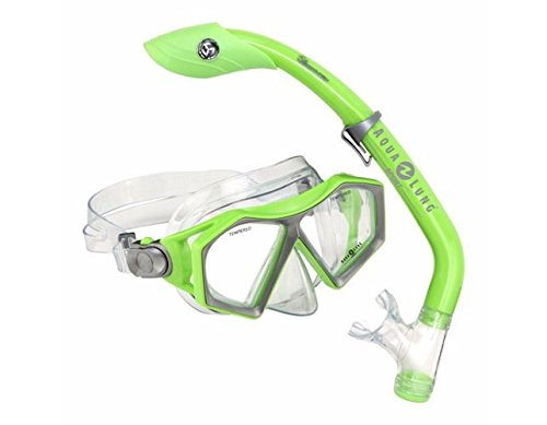 Green Buzz Jr Mask/Island Dry Jr Snorkel Combo