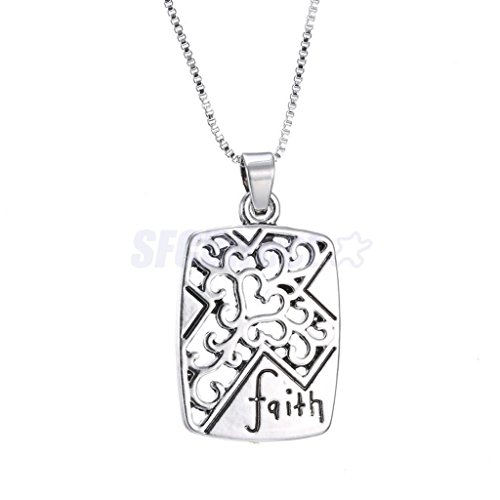 Hot Fashion Women Jewelry Necklace Chain Gothic ''faith'' Hollow Cross Pendant by sfcdirect