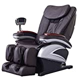 Full Body Electric Shiatsu Massage Chair Recliner with Built-in Heat Therapy Air Massage System Stretch Vibrating for Home Office Living Room PS4,Brown