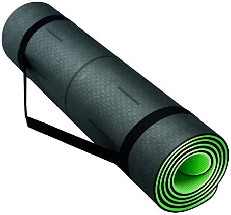 NOW YOGING Pro 8mm Unbeatable Thickness Non Slip TPE Yoga Mat, Comfort for All Types Exercise 72 x24 , Body Alignment, Free Mat Strap
