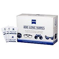 Toallitas de limpieza de lentes humedecidas Zeiss, 6 x 5 pulgadas (400 unidades)
