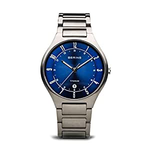 Bering Time 11739-707 Mens Titanium Collection Watch with Titanium Band and Scratch Resistant Sapphire Crystal. Designed in Denmark.