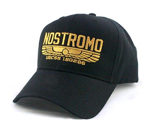 Alien Hat (NOSTROMO - WEYLAND YUTANI COMPANY MOVIE - Embroidered Unisex Twill Pro Style Baseball Cap Hat , Black)