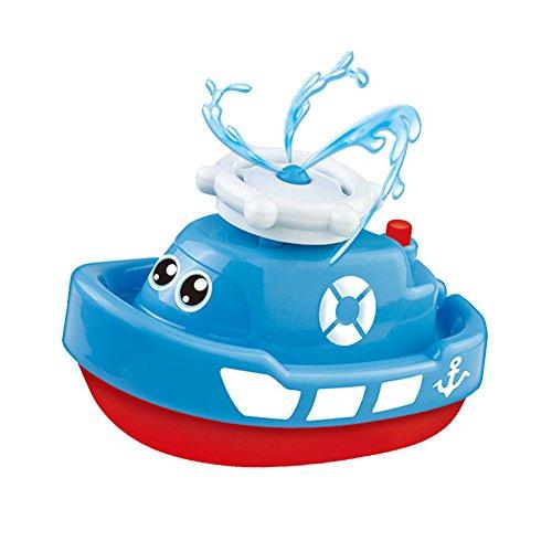 Badespielzeug Elektro Boot Dusche Rotierend Wasserspritz Water Badespaß Spiel für Baby Kinder