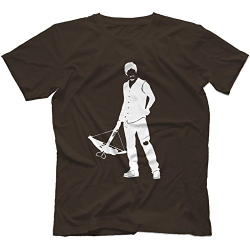 Daryl The Walking Dead Inspired T-Shirt in 13 Colours CROSSBOW THE GOVERNOR[Dark Chocolate,XXL]