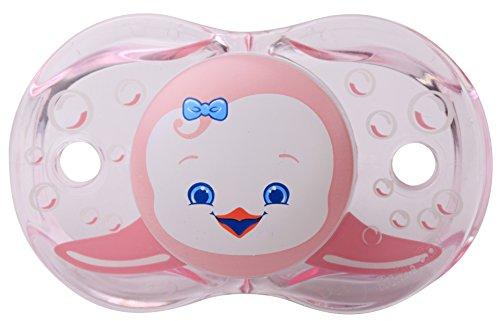 razbaby-keep-it-kleen-pacifier-rosa-penguin-0-36-months