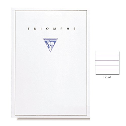 Clairefontaine Blank Writing Paper (8 1/4 x 11 3/4, Ruled Tablets, Extra White)