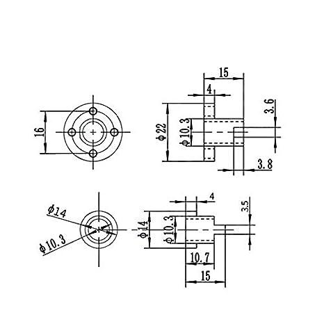 8 mm DC 6-36 V sensor de proximidad inductivo sensor 3D detección ...