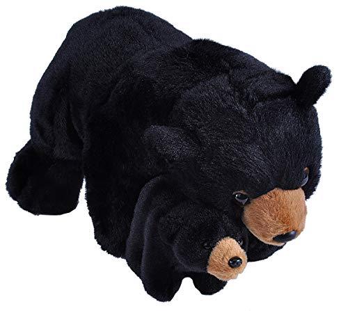 Wild Republic Mom & Baby Black Bear Plush, Stuffed Animal, Plush Toy, Gifts for Kids, 15