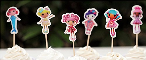 Lalaloopsy Cupcake Toppers Birthday Party Supplies Favors Pack of -