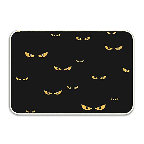 Library design Doormat Novelty Welcome Floor Mat Large 16 in. x 24 in.Silinana Spooky Monster Eyes in The Dark Halloween Pattern ()