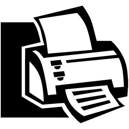 - Set of 3 - Office Printer Decal Sticker Color: Black- Peel and Stick Vinyl Sticker