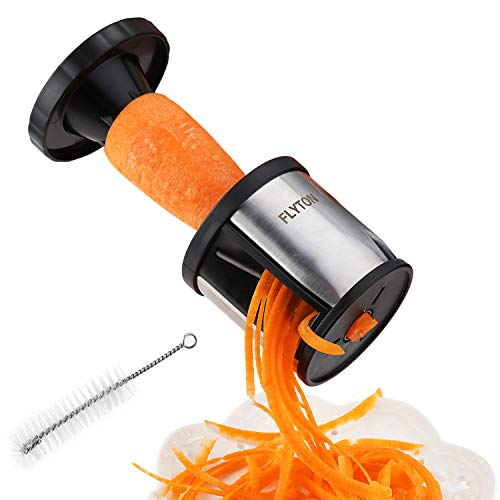Vegetable Spiralizer,FLYTON Stainless Steel Handheld Spiralizer...