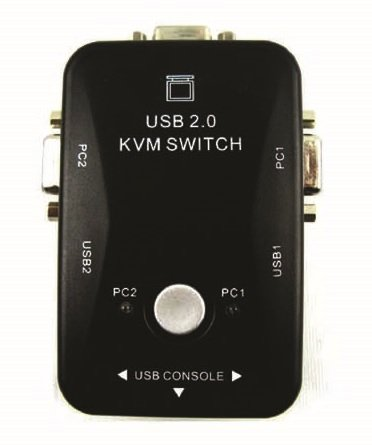 2 Port USB 2.0 Computer KVM Switch with 2 Cable Sets