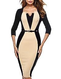 HOMEYEE Women's Vintage Wear to Work Formal Dress B405