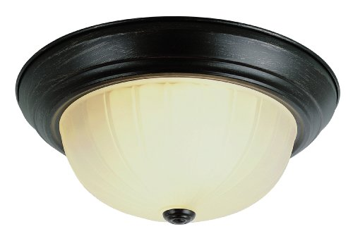 Trans Globe Lighting 13215-1 ROB Indoor Breakwater 15'' Flushmount, Rubbed Oil Bronze by Trans Globe Lighting