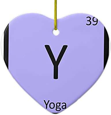 Amazon zazzle y yoga sports chemistry periodic table symbol amazon zazzle y yoga sports chemistry periodic table symbol metal ornament heart home kitchen urtaz