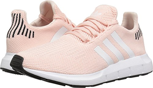 adidas Originals Women's Swift Run Sneaker, ice Pink/White/Black, 8 M US