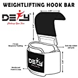 DEFY Challenge Your Fear Weight Lifting Hooks Heavy Duty Lifting Wrist Straps for Pull-ups Thick Padded Neoprene, Double Stitching, Non-Slip Resistant Coating