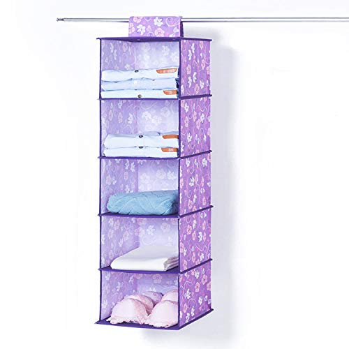 - Underwear Sort Home Storage Box Fashion Door Cabinet Storage Wardrobe Closet Organizer Hanging Storage Boxes Clothing Organize,Purple