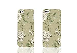 TYH - Botanical Garden - Cream - Birds - Rose - Trail Leaf D Rough iphone 5/5s Case Skin, fashion design image custom iPhone 5/5s , durable iphone 5/5s hard D case cover for iphone 5/5s, Case New Design By Codystore ending phone case