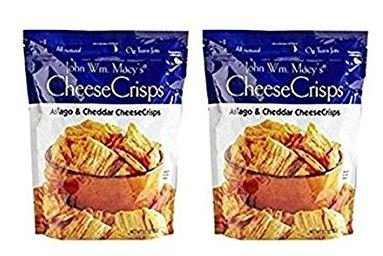 John Wm. Macys All Natural Asiago & Cheddar Cheese Crisps 11 oz (Pack of (Crisp Sharp)