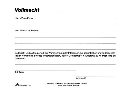 Vollmacht Auto Anmelden Billig Auto Hirsch Tabakried Export