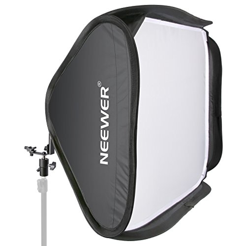 "Neewer 24""x24""/60cmx60cm Professional Protable Foldable Off-Camera Flash Photography Studio, Portrait Soft Box with L-shaped bracket & flash Ring, Outer Diffuser and Carrying Case"