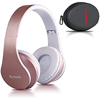 Bluetooth Headphones Over Ear, Rydohi Wireless Stereo Headset with Deep Bass, Foldable and Lightweight, Wired and Wireless Modes Built in Mic for Cell Phone ...
