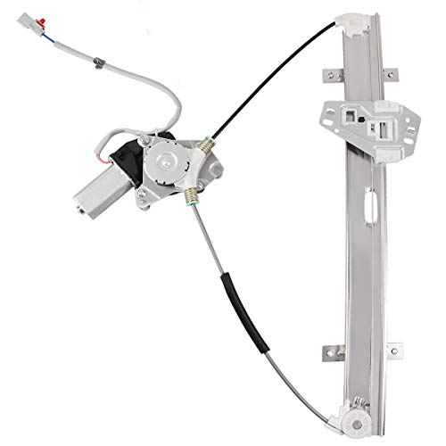 Power Window Regulator With Motor for 2001-2005 Honda Civic Sedan, Front Right RH Passenger Side, 2 Pin Connector.