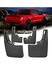 Klutchtech 2021 F150 Mud Flaps Splash Guards 4pcs No Drilling Compatible With 2021 Ford F150 (Without Fender Flares)