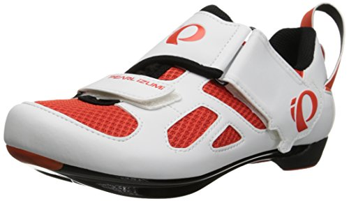 Pearl Izumi Men's Tri Fly V MR Cycling Shoe, Mandarin Red, 41 EU/7.7 C US