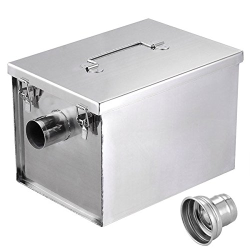 KOVAL INC.- Grease Trap Interceptor 8 lb 5GPM Converter Stainless Steel by KOVAL INC.