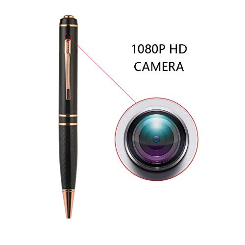 OMZBM Upgraded Spy Pen with Surveillance Hidden Camera – 128GB-1080P Full HD Recorder Pen,Multifunction Security Surveillance Wireless DV Cam,Black