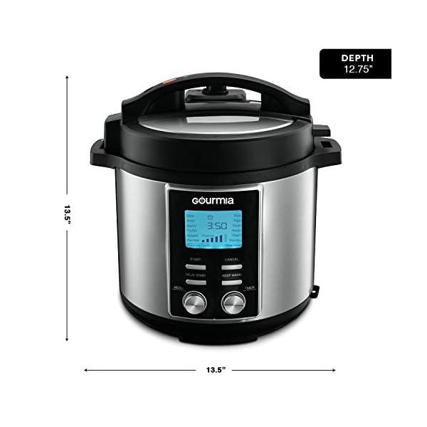 Gourmia GPC655 6 Qt Digital SmartPot Multi-Function Pressure Cooker - 15 Cook Modes - Removable Nonstick Pot - 24-Hour… 6