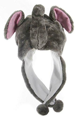 Animal Head Super Soft Plush Childrens Hat - -