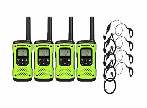 Motorola T600 4 Pack Two-Way Radios with Curl PTT Earpieces