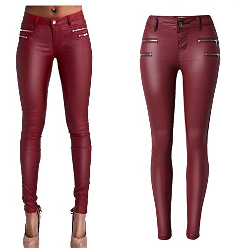 Ladies Leather Motorcycle Trousers - 5