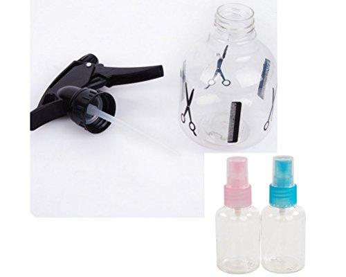 Plastic Hair Salon Tool Spray Bottle Hairdressing Flowers Plants Water Sprayer (1ps 250ml spray bottle+ 2pcs 50ml bottle)