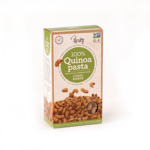 Pereg Curvo Rigate Quinoa Pasta, 8 Ounce -- 6 per case.